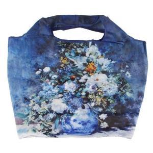 名画 エコバッグ 世界の名画シリーズ ルノワール 春の花束 折りたたみバッグ 美術 芸術 ギフト お礼 お返し お祝い メール便可|fleur-de-camelia2