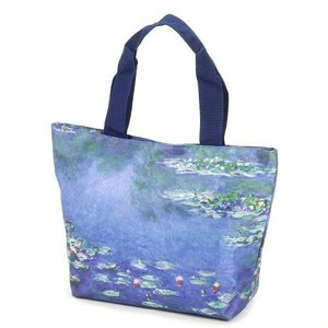 モネ 睡蓮 トートバッグ A4対応 世界の名画シリーズ 美術 芸術 ギフト お礼 お返し お祝い|fleur-de-camelia2