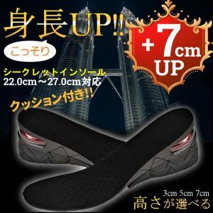 シークレットインソール 3cm 5cm 7cm クッション付き 男女兼用|flexgear