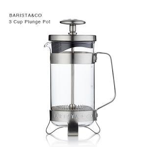 BARISTA&CO(バリスタアンドコー)3カップ プランジポット Electric Steel(フレンチプレス、コーヒープレス)|flgds