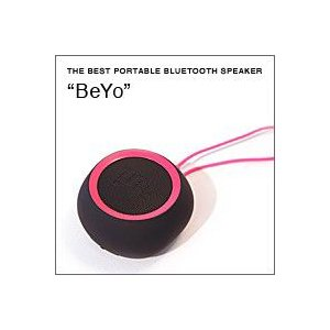 BeYo(ビーヨ) ブラック×ピンク(ウーファー搭載 Bluetooth対応 ポータブルスピーカー)|flgds