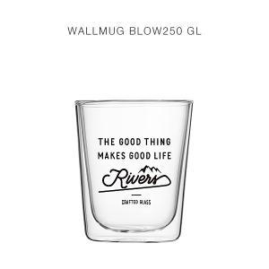 RIVERS(リバーズ)ウォールマグ ブロー250 GOOD LIFE(ブラック)(耐熱ダブルウォールグラス、タンブラー)|flgds