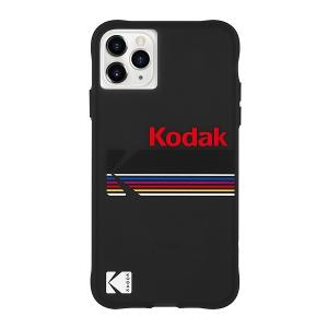 Case-Mate×Kodak iPhone 11 Pro Max Case Kodak Matte Black + Shiny Black Logo|flgds