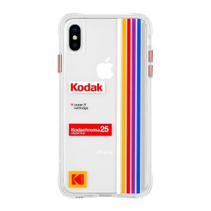 Case-Mate×Kodak iPhone X/XS Case Kodak Striped Kodachrome Super 8|flgds