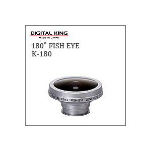 DIGITAL KING(デジタルキング)180°フィッシュアイ(魚眼)レンズK-180(トイデジ・トイカメラ用コンバージョンレンズ)|flgds