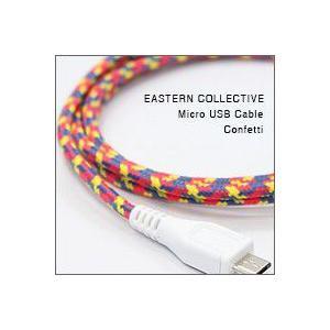 EASTERN COLLECTIVE Micro USB ケーブル(Confetti)(アンドロイドスマートフォン、タブレットPC対応 充電・データ転送等用ケーブル)|flgds