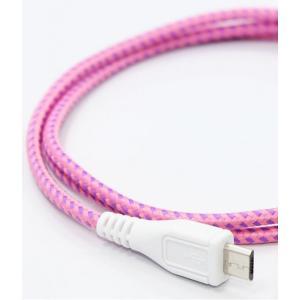 EASTERN COLLECTIVE Micro USB ケーブル(Pink)(アンドロイドスマートフォン、タブレットPC対応 充電・データ転送等用ケーブル)|flgds
