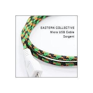 EASTERN COLLECTIVE Micro USB ケーブル(Sargent)(アンドロイドスマートフォン、タブレットPC対応 充電・データ転送等用ケーブル)|flgds