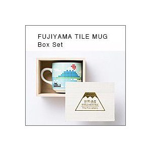 The Porcelains 富士山タイルマグ(小)木箱1個入り(ザ・ポーセリンズ、マグカップ)|flgds