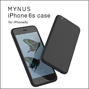 【送料無料(クリックポスト)】MYNUS iPhone 6s case ブラック(iPhone6/6s対応)ミニマルアイフォンケース|flgds