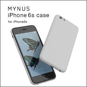 【送料無料(クリックポスト)】MYNUS iPhone 6s case ライトグレイ(iPhone6/6s対応)ミニマルアイフォンケース|flgds