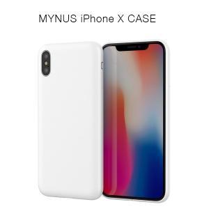 MYNUS iPhone X CASE(マットホワイト)アイフォンケース|flgds