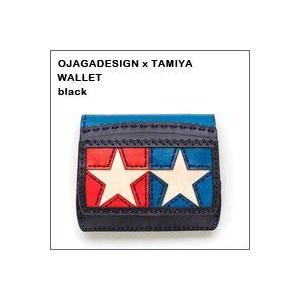 TAMIYA(タミヤ)×ojaga design(オジャガデザイン)ショートウォレット(ブラック)(財布)|flgds