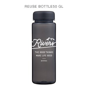 RIVERS(リバーズ)リユースボトル500ml GOOD LIFE(ブラック/ホワイト)ウォーターボトル、クリアボトル|flgds