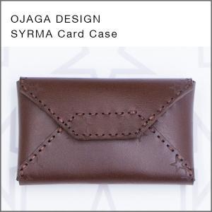 OJAGA DESIGN(オジャガデザイン)SYRMA(チョコ)カードケース・名刺入れ|flgds