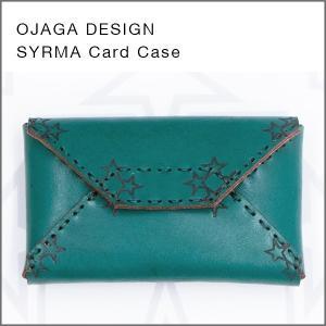 OJAGA DESIGN(オジャガデザイン)SYRMA(グリーン)カードケース・名刺入れ|flgds