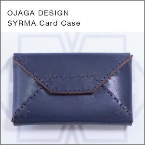 OJAGA DESIGN(オジャガデザイン)SYRMA(ネイビー)カードケース・名刺入れ|flgds