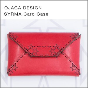 OJAGA DESIGN(オジャガデザイン)SYRMA(レッド)カードケース・名刺入れ|flgds