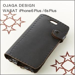 OJAGA DESIGN(オジャガデザイン)WASAT iPhone6 Plus/6s Plus(ブラック)手帳型アイフォンケース|flgds