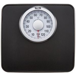 タニタ 体重計 アナログ 大画面 ブラック HA-650 BK 見やすい大きな目盛版の商品画像|ナビ