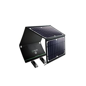 RAVPower ソーラーチャージャー ソーラー充電器 16W USB 2ポート 折りたたみ iPh...