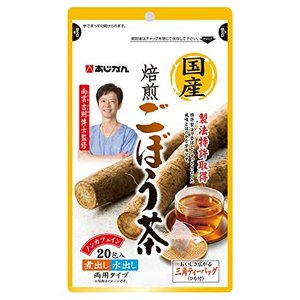 あじかん 国産焙煎ごぼう茶 1g×20包 (1包あたり600cc1袋で約12L分)|fljust