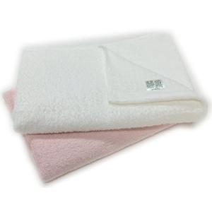 泉州タオル オーガニックコットン バスタオル 2枚組 日本製 (ピンクホワイト 1枚ずつ)