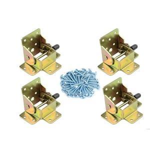 折れ脚金具 折りたたみ テーブル用脚 おしゃれな家へ DIY (4枚セット) (C)