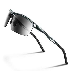 Glazata 偏光スポーツサングラス 超軽量メタルフレーム UV400 紫外線カット ドライブ/野球/自転車/夜釣りランニングゴルフ運転 男女兼用|fljust