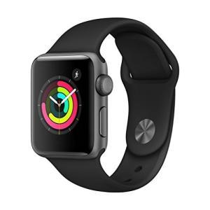 Apple Watch Series 3(GPSモデル)- 38mmスペースグレイアルミニウムケース...