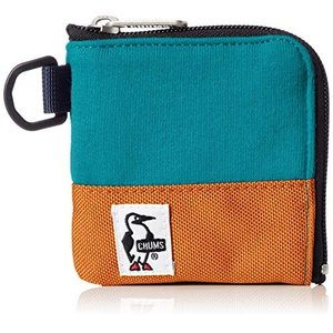 チャムス コインケース Square Coin Case Sweat Nylon Teal/Oran...
