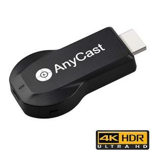 クロームキャスト HDMI ワイヤレス 無線 4K エニーキャスト モード切り替え不要 ミラキャスト ミラーリング 4K解像度高画質の商品画像|ナビ