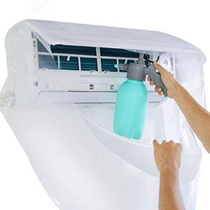 エアコン 洗浄 カバー 掃除 シート 透明 壁掛け用 使いやすい ホース付き CoiTek