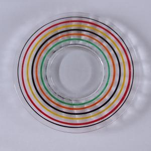 イギリスのガラスメーカー アンカーホッキングのプレートです。 ※ 刻印はありません。  透明のガラス...