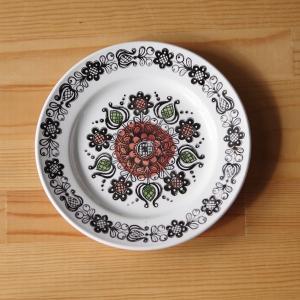 イギリス アンティーク食器 ブロードハースト ロマニー レトロ花柄 デザートプレート 17cm #1...