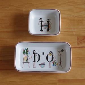 イギリスの陶器メーカー DENBY(デンビー) のスクエアボウル2個セットです。  おそらく、本来は...