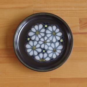 イギリス ヴィンテージ 食器 陶器 デンビー キズミット レトロモダン 花柄 ケーキプレート 中皿 ...