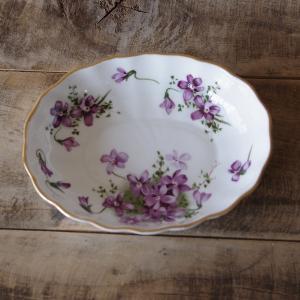 ハマースレイ ヴィクトリアンバイオレット トリンケットディッシュ 小皿 イギリス アンティーク 雑貨...