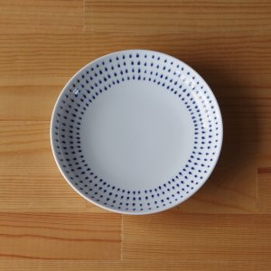 波佐見焼(はさみやき) ame 中皿 取皿 プレート 15cm 雨