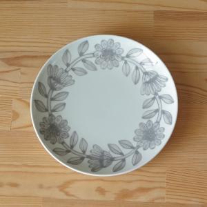 波佐見焼 デイジー グレー デザートプレート ケーキ皿 中皿 18cm  HASAMI