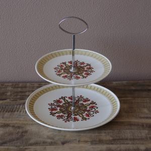 イギリスの陶器メーカー Palissy の二段皿です。  「マラケシュ」というシリーズのもので、お皿...