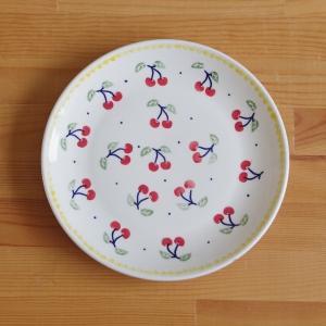 ポーリッシュポタリー ポーランド食器 ランチプレート 中皿 22cm さくらんぼ柄 T134-ALC...