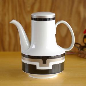 ローゼンタール コンポジション レトロモダン ブラック×シルバー ミニ コーヒーポット #16100...