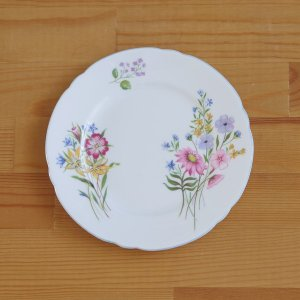 イギリスの陶磁器メーカー Shelley のデザートプレートです。 やや小さめのサイズです。  Wi...