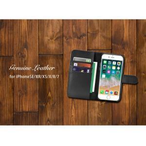 iPhone8 iPhone7 ケース 手帳型 本革 iPhone6s iPhone XR XS X レザー アイホン アイフォン 手帳型ケース カバー シンプル 財布 耐衝撃 牛革 ブラック ビジネス flora-stone 03