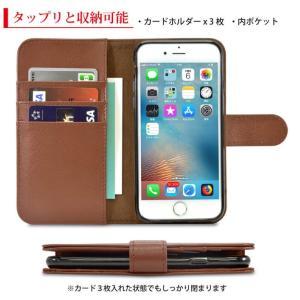 iPhone8 iPhone7 ケース 手帳型 本革 iPhone6s iPhone XR XS X レザー アイホン アイフォン 手帳型ケース カバー シンプル 財布 耐衝撃 牛革 ブラック ビジネス flora-stone 05
