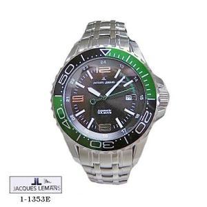 ジャック ルマン 腕時計 JACQUES LEMANS 1-1353E  Liverpool  Diver   ブラック文字盤 SSベルト 自動巻き  メンズ|flore