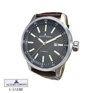 ジャック ルマン 腕時計 JACQUES LEMANS 1-1723B  Proto Automatic  黒文字盤 茶革ベルト メンズ|flore