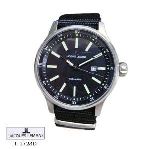 ジャック ルマン 腕時計 JACQUES LEMANS 1-1723D  Proto Automatic  黒文字盤 黒ナイロンベルト メンズ|flore