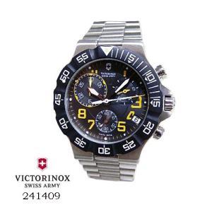 ビクトリノックス 腕時計 VICTORINOX スイスアーミー 241409 SUMMIT クロノ 黒文字盤 SSベルト クオーツ メンズ|flore